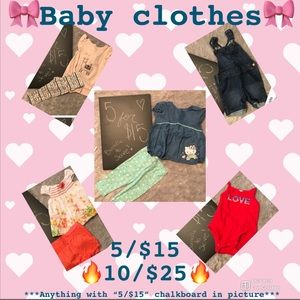 🎀Baby Clothes Sale!! 🔥
